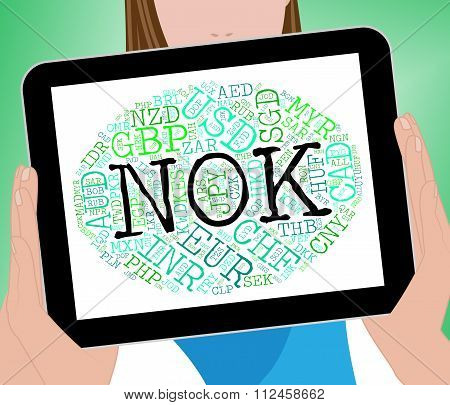 Nok Currency Represents Forex Trading And Exchange