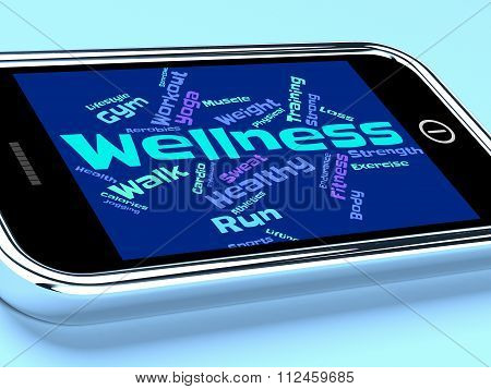Wellness Words Indicates Health Check And Healthcare