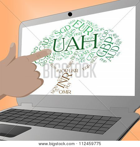 Uah Currency Shows Foreign Exchange And Banknote