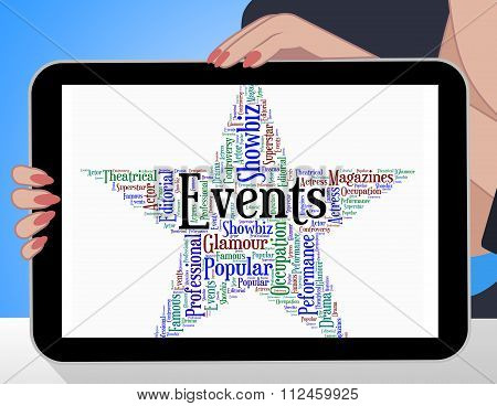Events Star Represents Wordcloud Words And Function