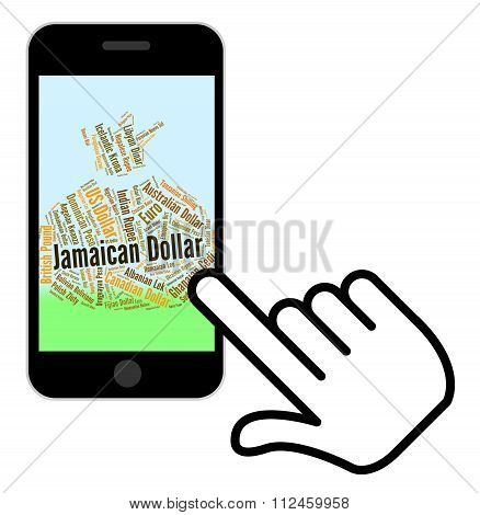 Jamaican Dollar Indicates Currency Exchange And Dollars