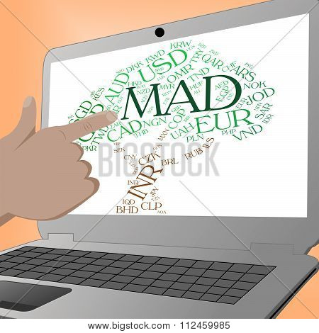 Mad Currency Indicates Worldwide Trading And Coin