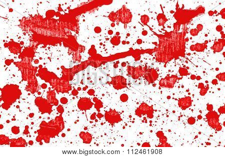 Red Spilt Paint