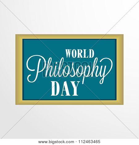 World Philosophy Day