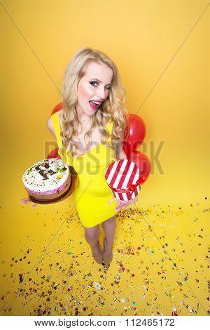 Birthday Woman In Studio