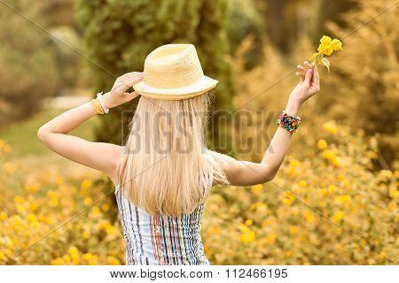 Beauty playful woman relax, garden, people outdoor