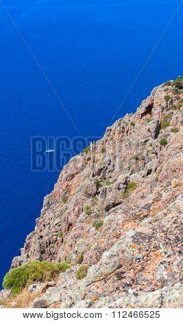Vertical Landscape Of Capo Rosso, Piana Region