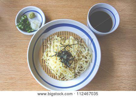 Soba, japanese noodle style. Tone Japanese