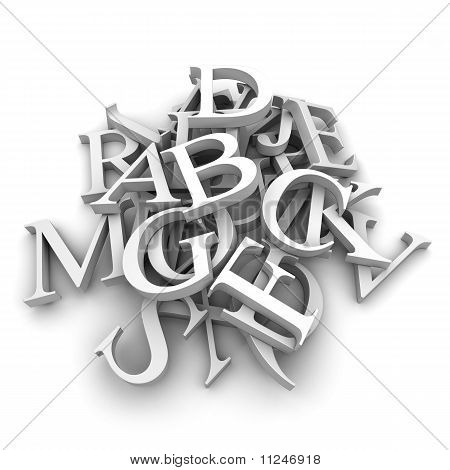 Alphabet Letters Poured In A Heap