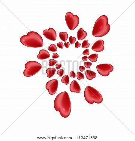 Red Heart Helix 3D Design