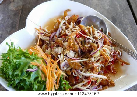 Sweet And Sour Dried Shrimp Salad