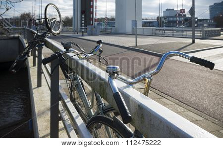 Bicycles On Bridge