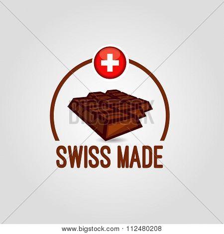 icon Swiss made chocolate