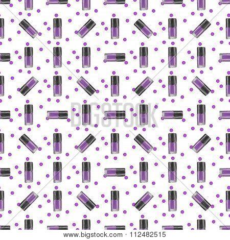 Violet Nail Polish Seamless Pattern