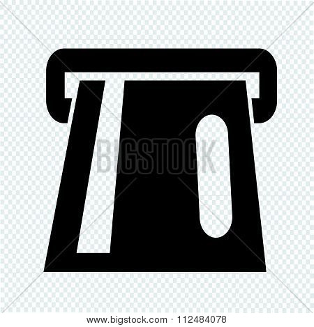 an images of illustration vector Atm Icon atm card slot icon