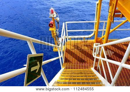 Oil And Gas Platform In The Gulf Or The Sea, The World Energy, Offshore Oil And Rig Construction.pla