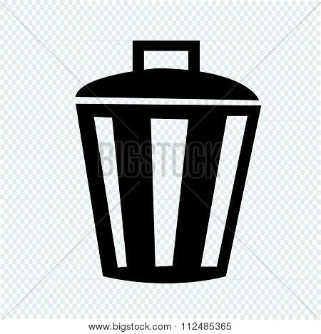 an images of illustration vector Bin Icon