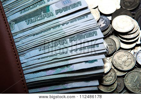 Money In The Form Of Banknotes And Coins