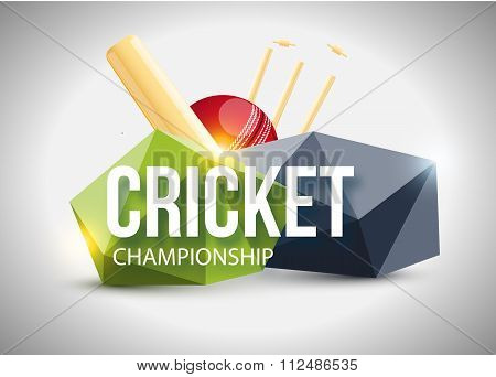 Cricket concept sport background eps 10