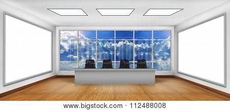 Two Big White Tv Screen