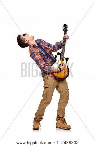 Expressive Rock Musician