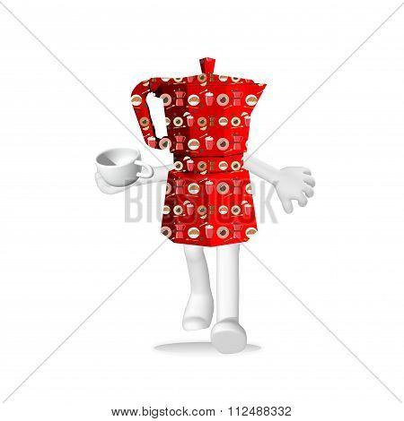 red coffeepot