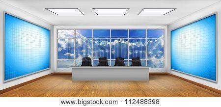 Two Big Blank Tv Screen