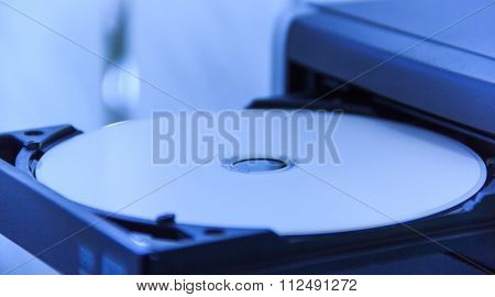 The white DVD