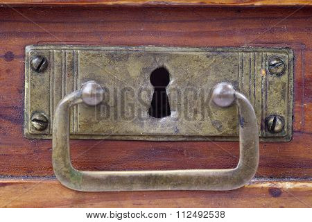 Detail Of The Old And Used Drawer