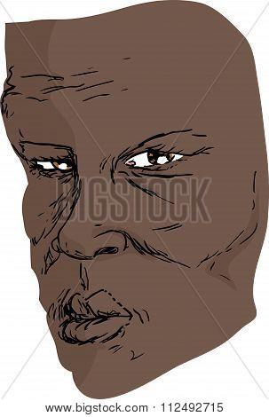 Face Of Serious Man