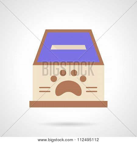 Animal shelter fundraising flat color vector icon