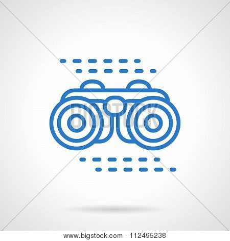 Binoculars vector icon blue line style