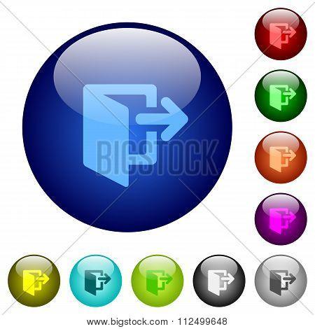 Color Logout Glass Buttons