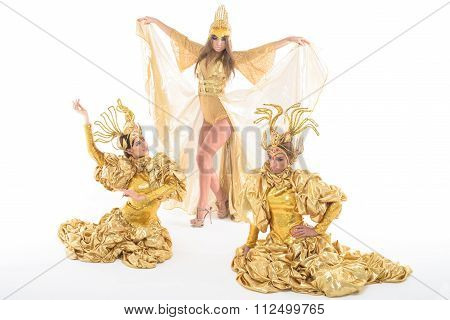 Dancing in gold