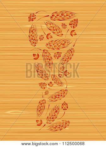 Decorative vector glass of beer