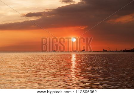 Beautiful Sunset At Manila Bay.
