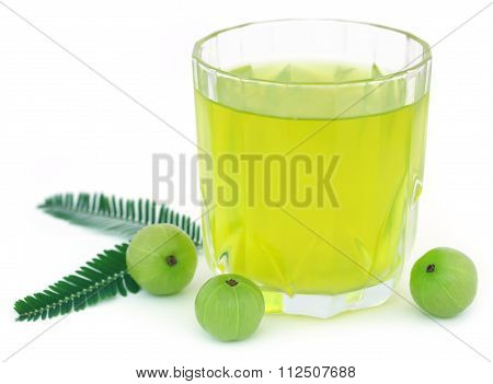 Herbal Amla Juice With Fresh Fruits