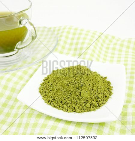The Japanese matcha green tea