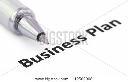 Business Plan Written In A Paper