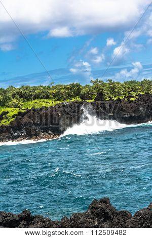 Waianapanapa State Park coast, Maui, Hawaii