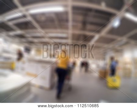 Home-store shopping mall theme blur background