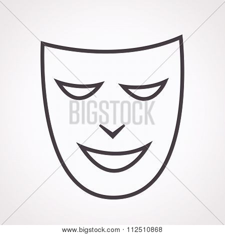 an images of illustration vector theatrical masks icon