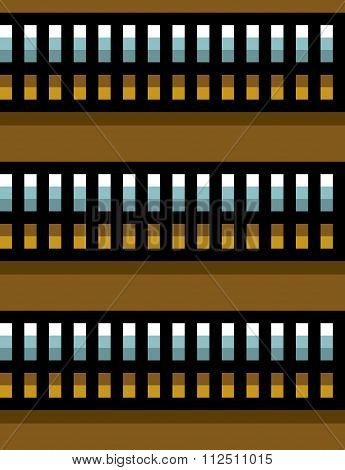 Seamless Steel Techno Tubes With An Orange Light On Brown