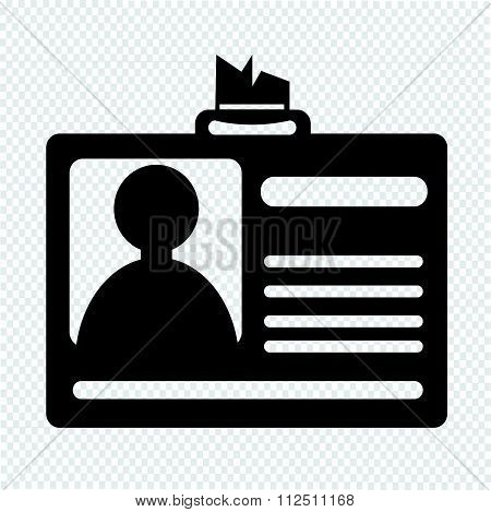 an images of illustration Identification card icon ID Card icon
