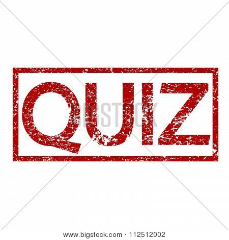 an images of illustration Stamp text QUIZ