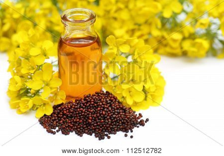 Mustard With Oil And Flower