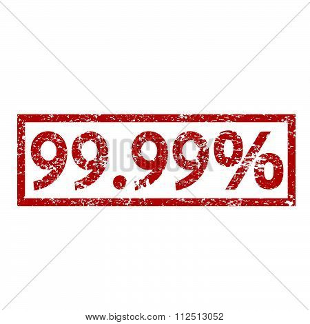 an images of illustration Stamp text 99.99 percent