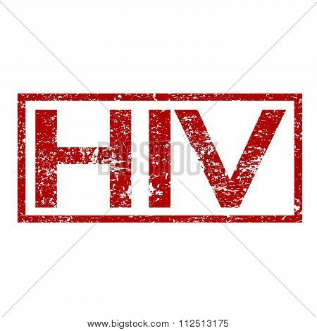 an images of illustration Stamp text HIV