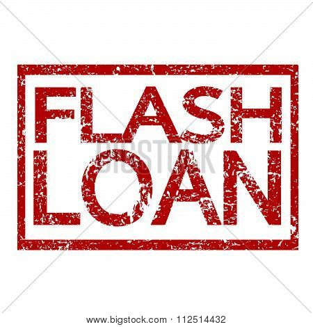 an images of illustration Stamp text FLASH LOAN