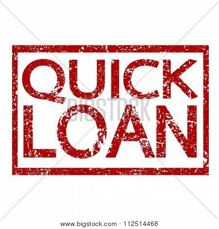 an images of illustration Stamp text QUICK LOAN